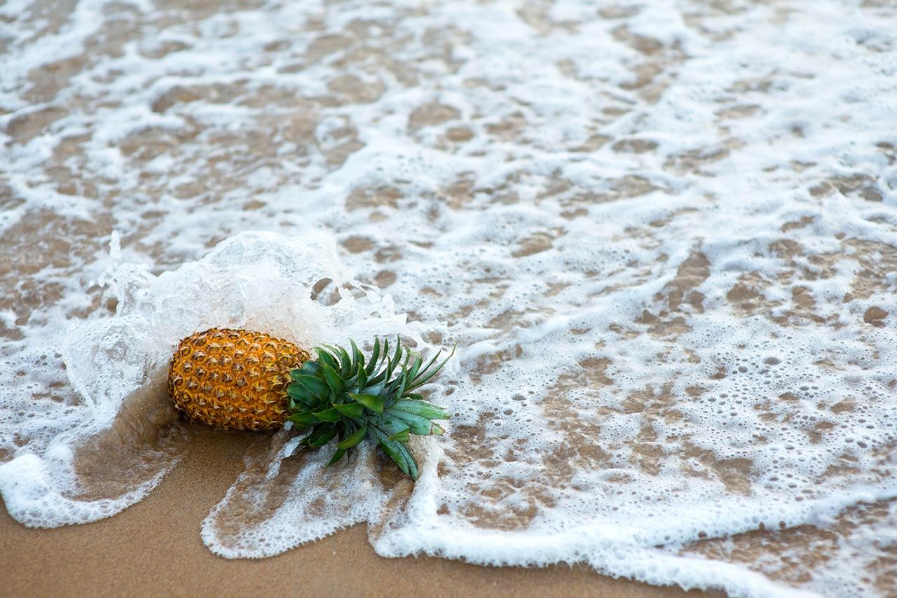 Ananas salzen