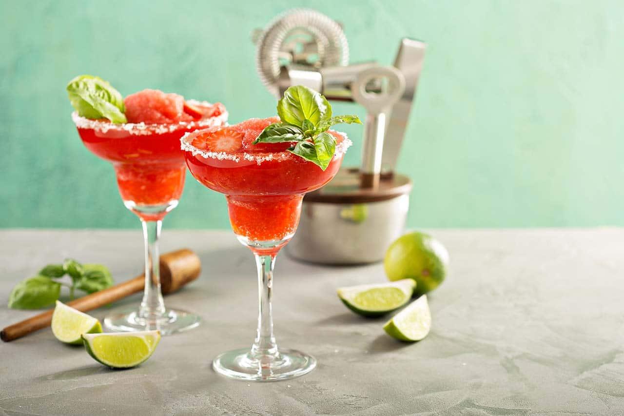 Erdbeeren Margarita Cocktail Rezept