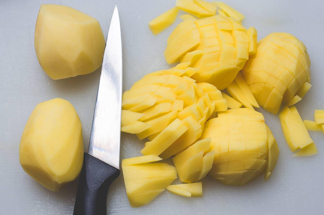 Pommes schneiden