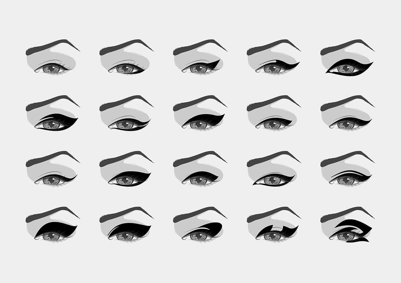 lidstrich eyeliner auftragen