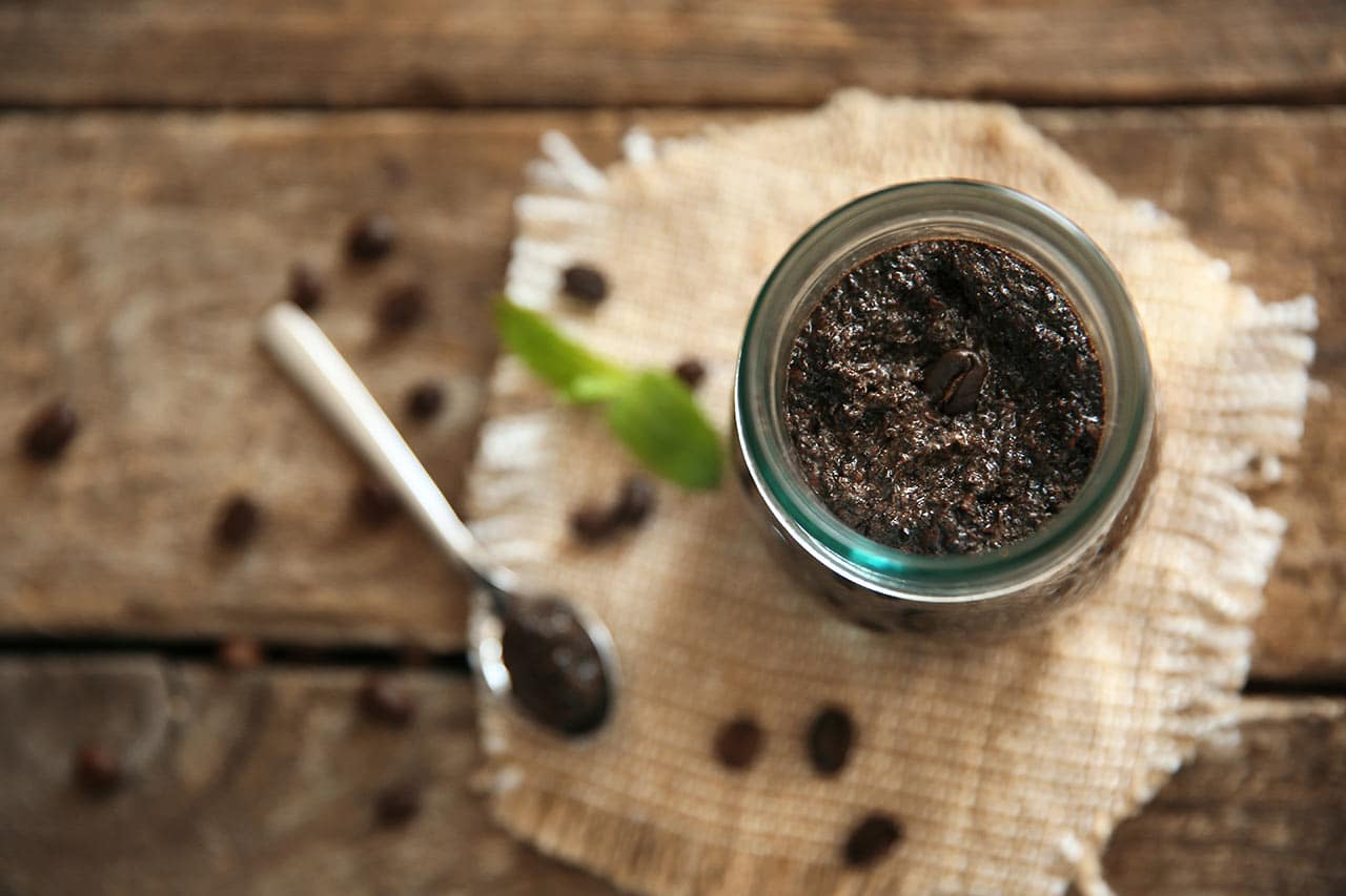Kaffee Peeling selber machen, DIY Kaffeesatz Hautpeeling
