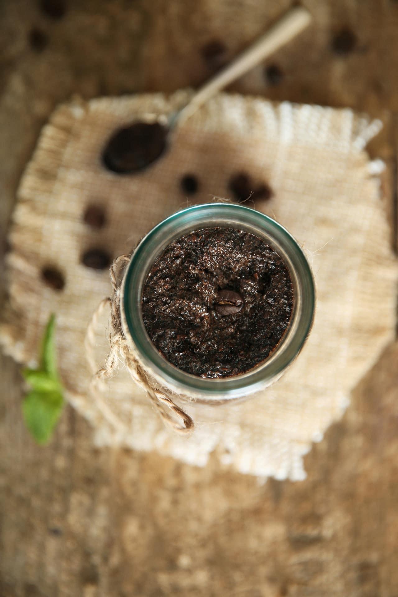 Kaffeesatz Peeling selber machen