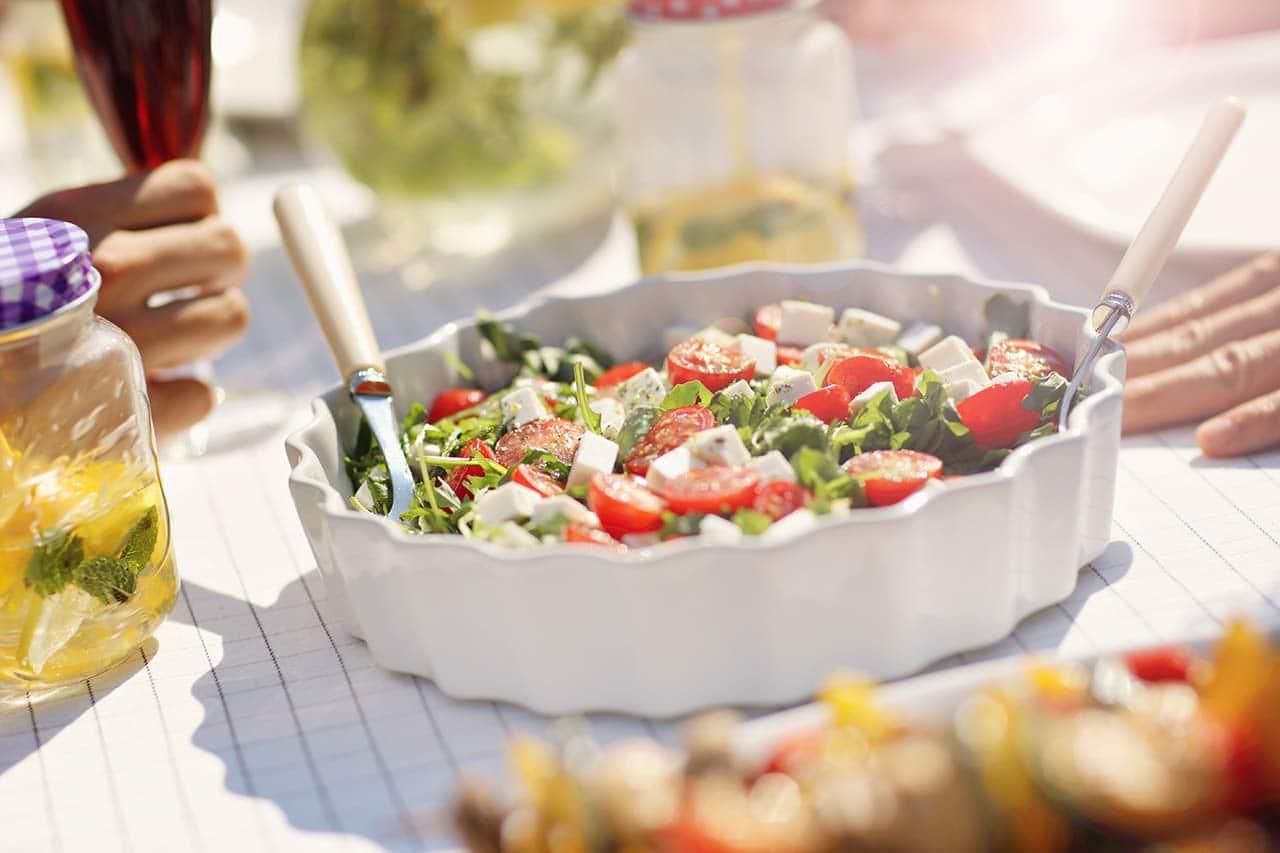 Gartenparty Essen Salatbar