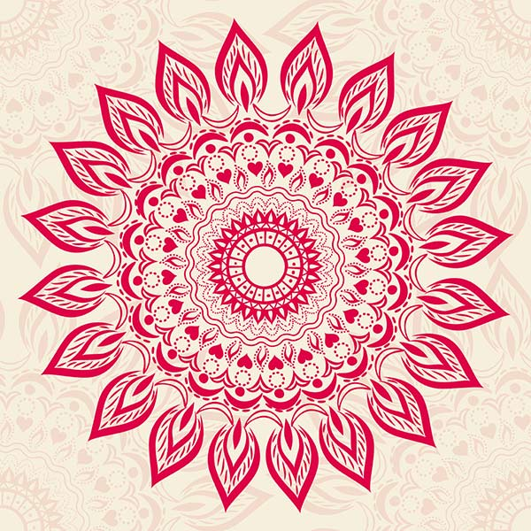 großflächiges Henna Muster