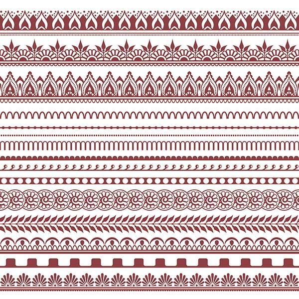 Henna Muster, einfach, leicht