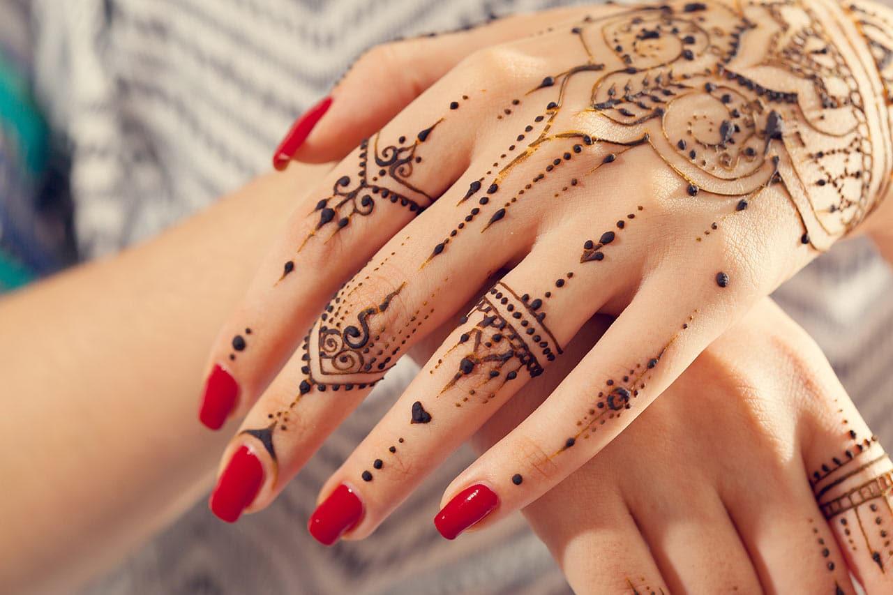 Henna Tattoo selber machen, Anleitung, Muster, Motive, Vorlagen