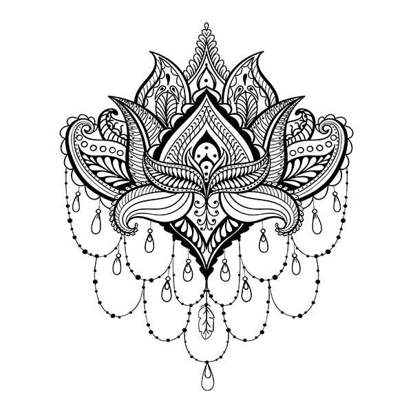 Henna Vorlage, Muster, Motive