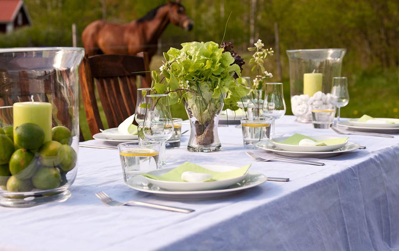 Tischdeko Gartenparty