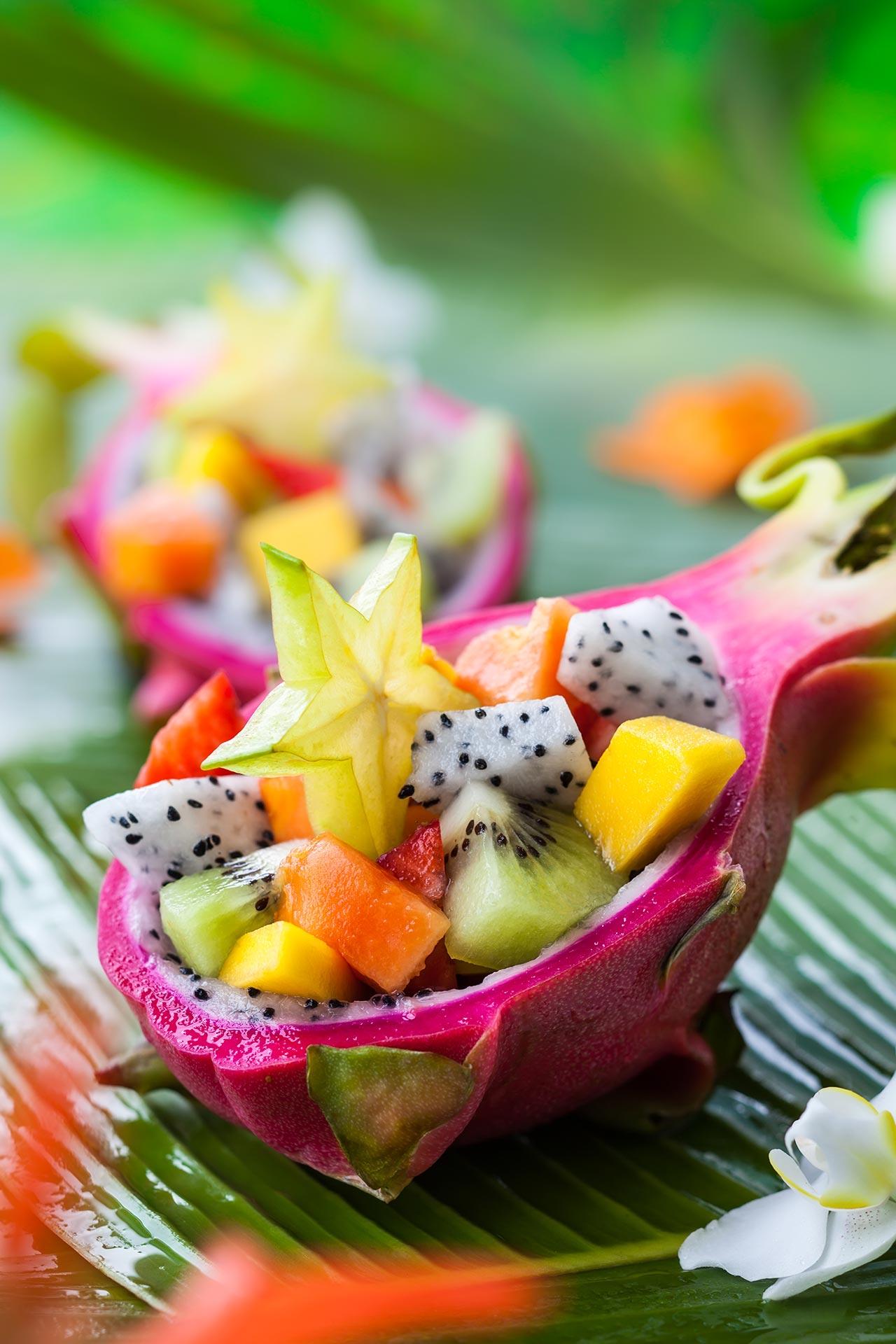 außergewöhnliches Dessert, exotischer Obstsalat Rezept