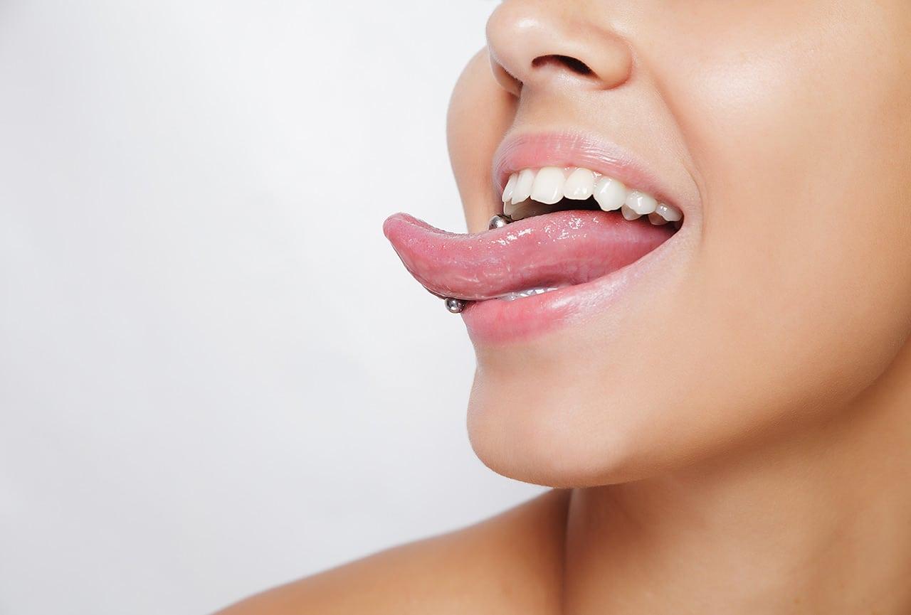 Zungenpiercing Arten, Pflege, Mundspülung