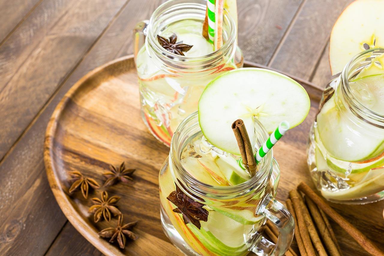 zimtwasser mit apfel und anis rezept