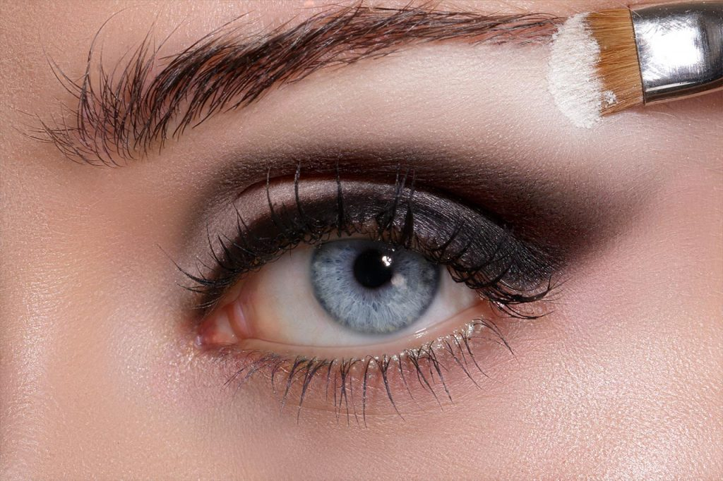 augen make up anleitung highlighter