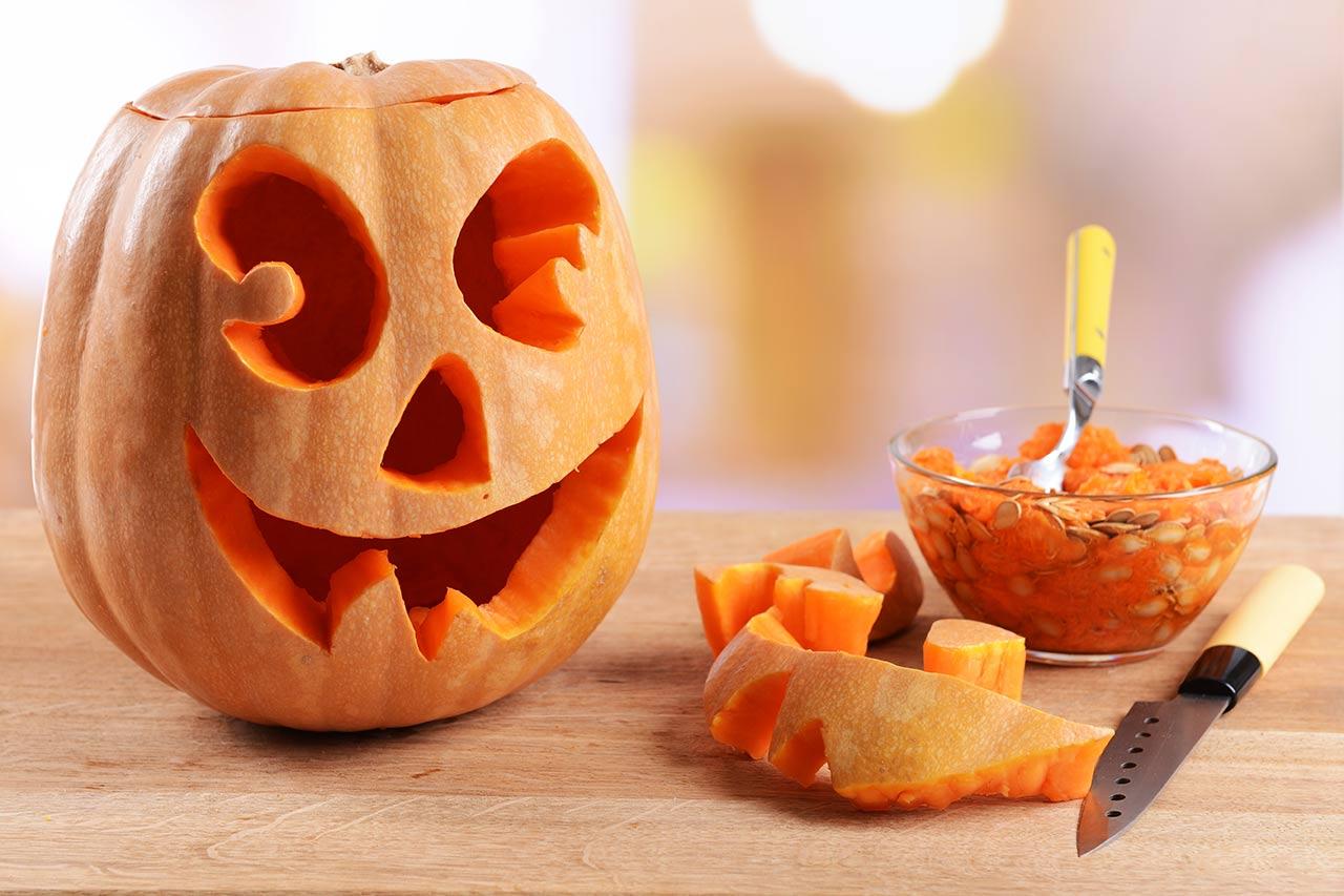 Halloween Kürbis schnitzen, Anleitung, Sorte, Vorlagen