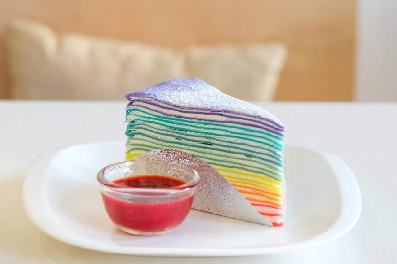 Regenbogen-Crepe-Kuchen-Rezept