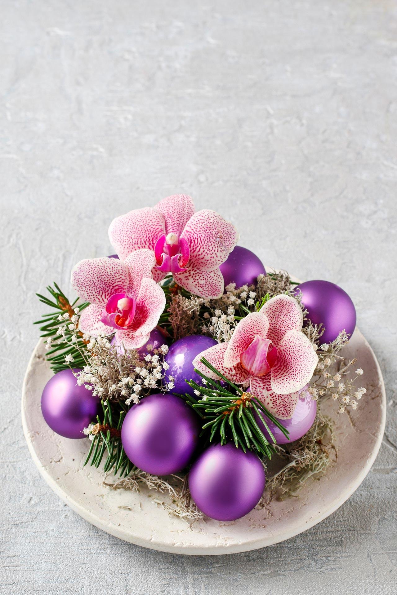 Weihnachtliche Tischdeko selber machen