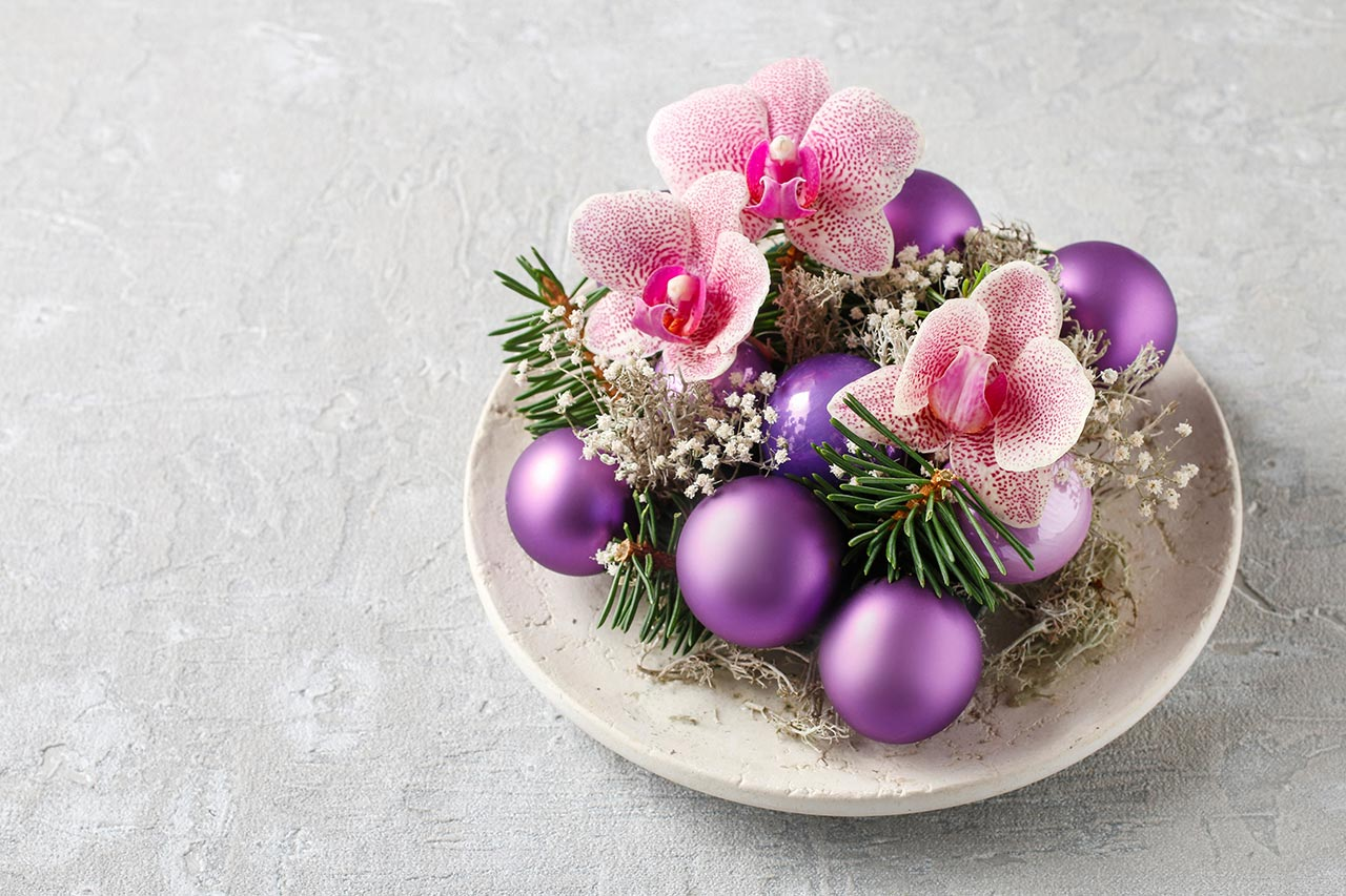 Weihnachtliche Tischdekoration selber machen