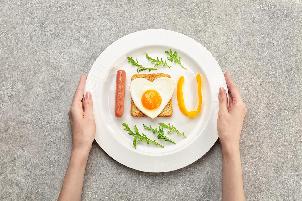 Spiegelei, Herzform, Frühstücksidee