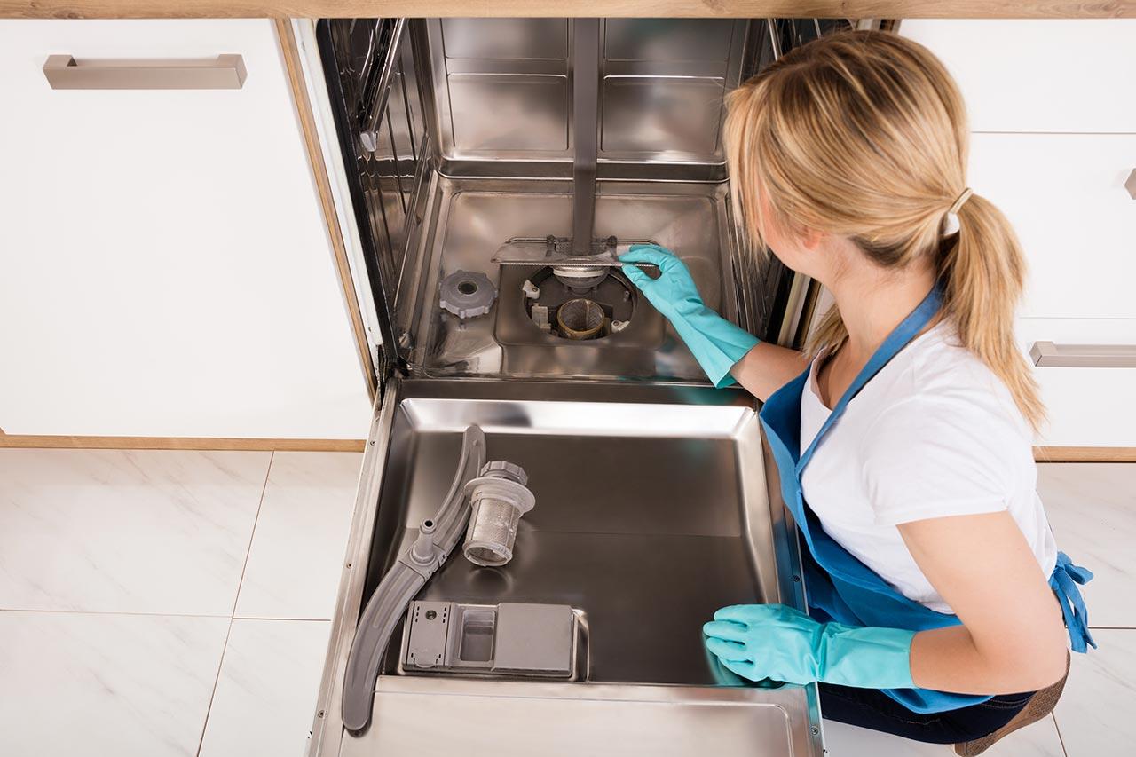 Sprüharme Spülmaschine reinigen