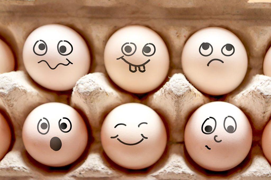 Lustige Eier DIY