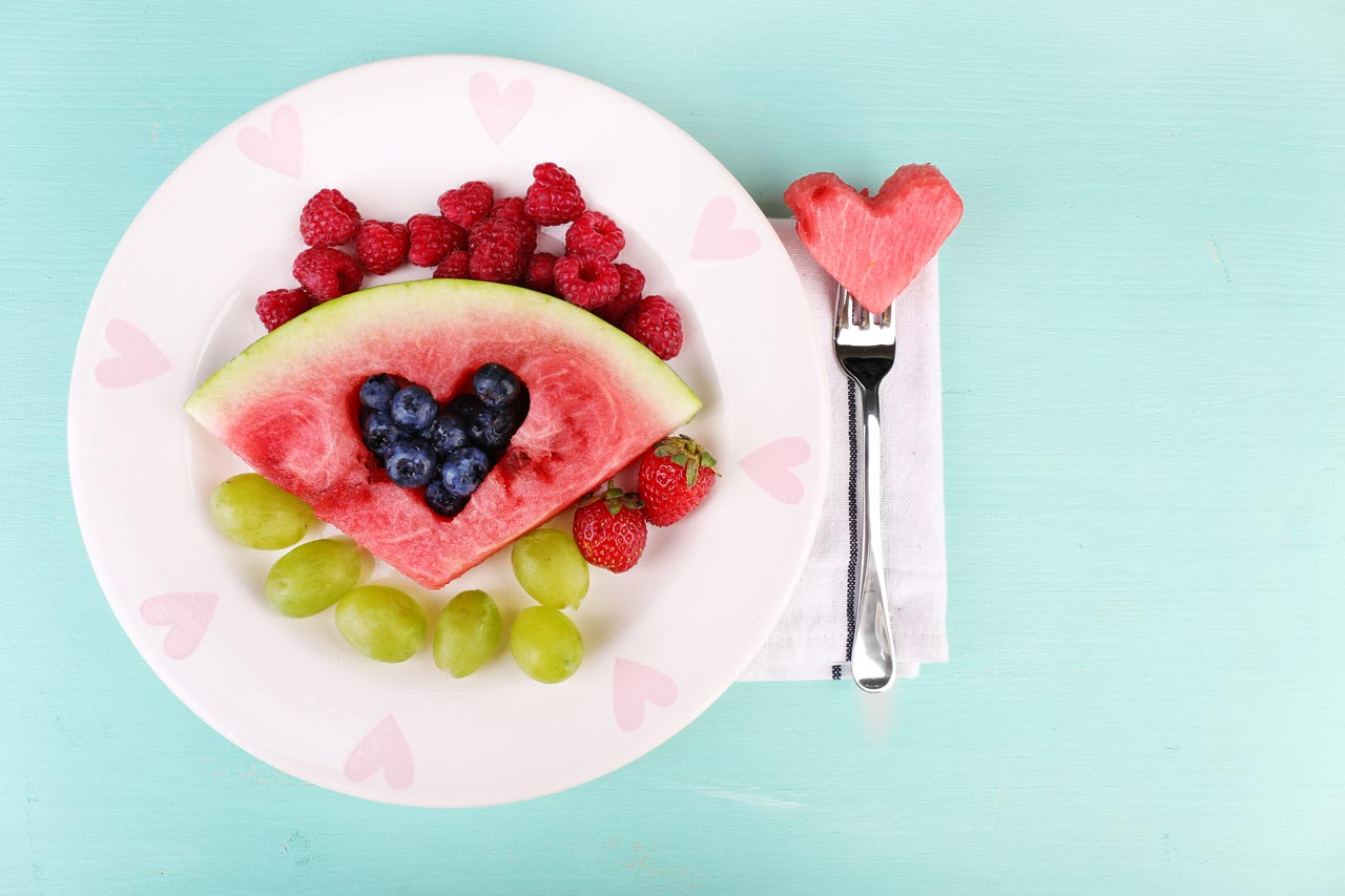 fruehstueck kinder melonenherz