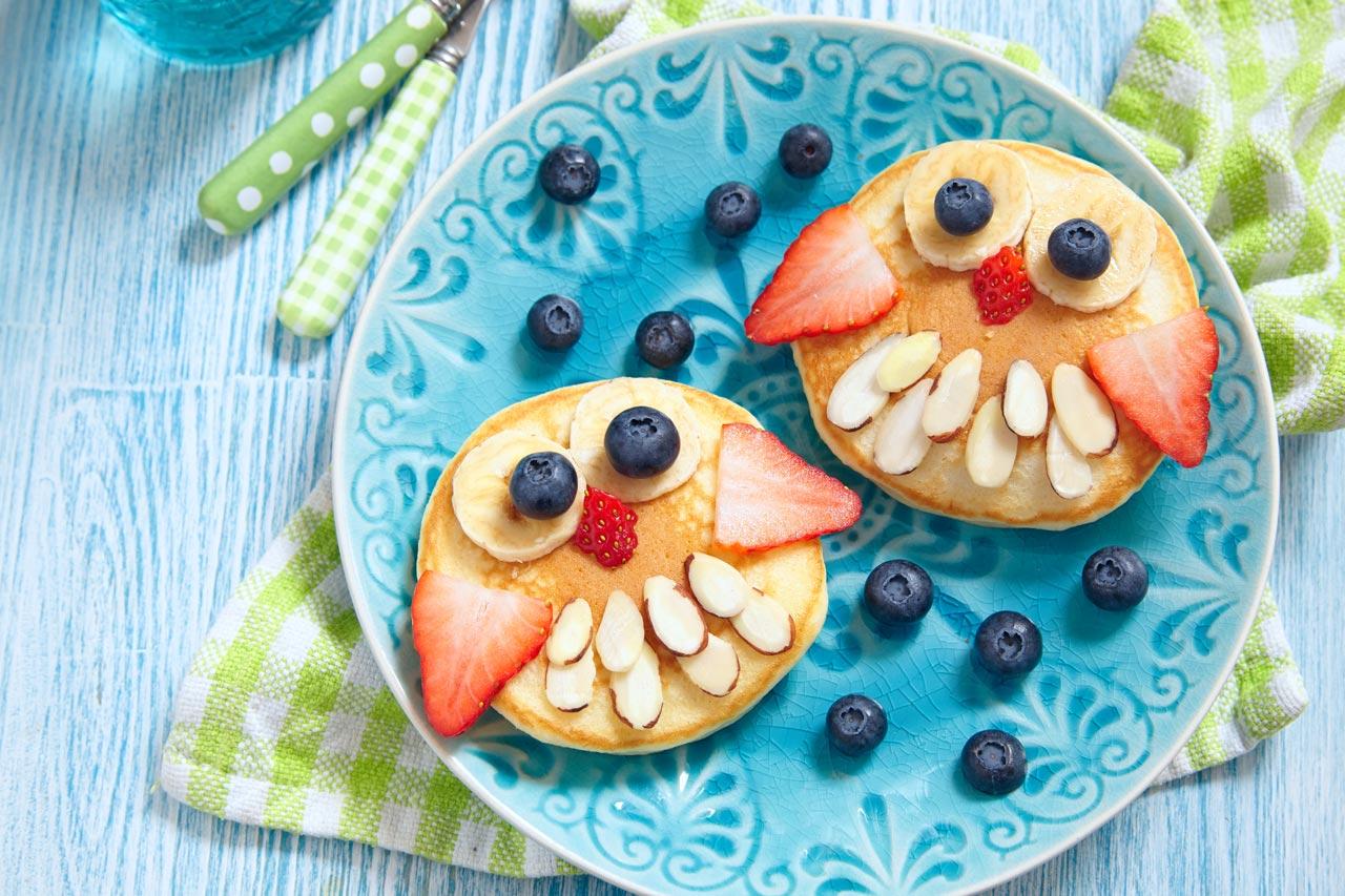 lustige dekoration fruehstueck eule
