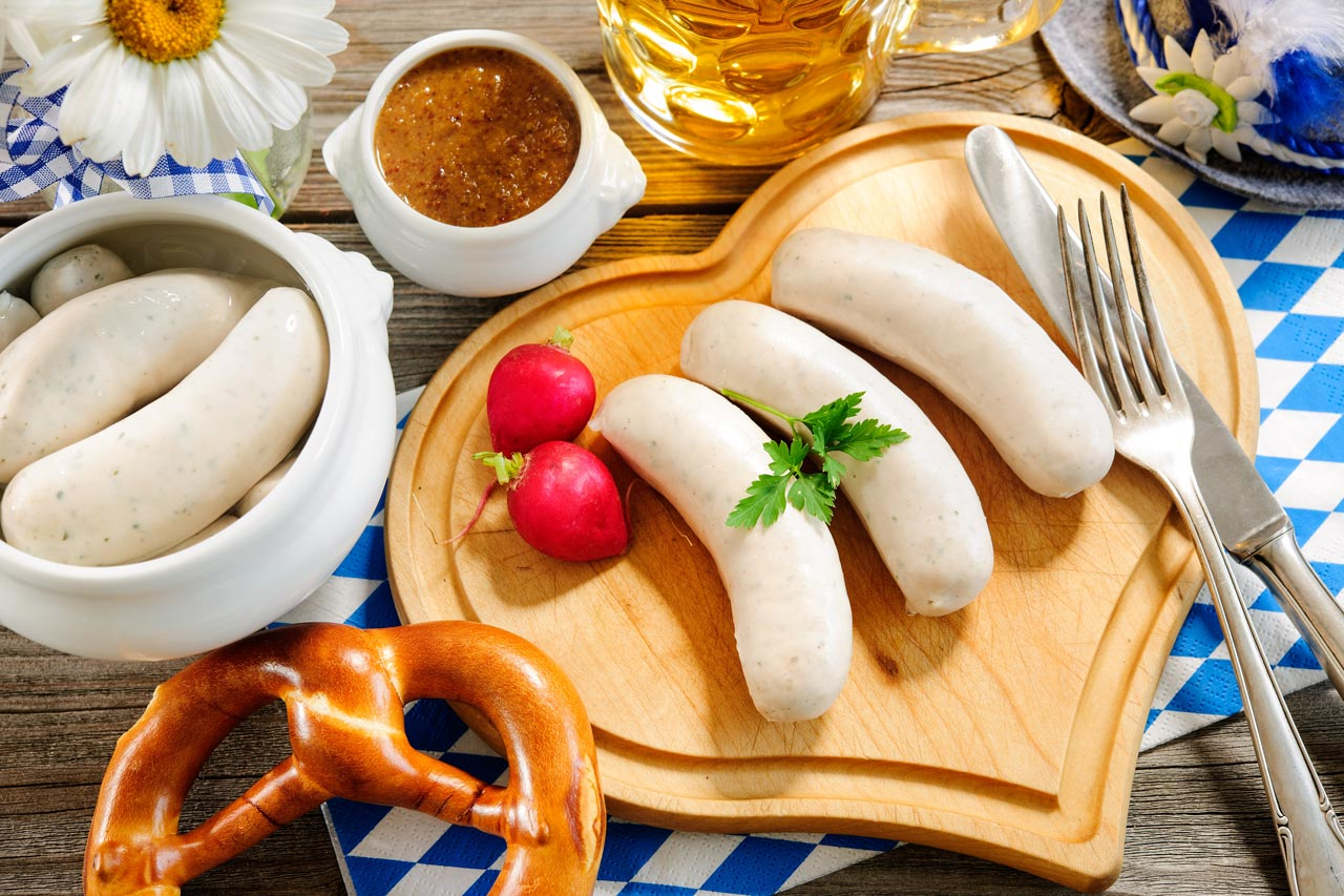 Weißwurst essen