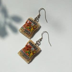 Adorable Haribo sweets packet earrings miniature food earrings cute earrings