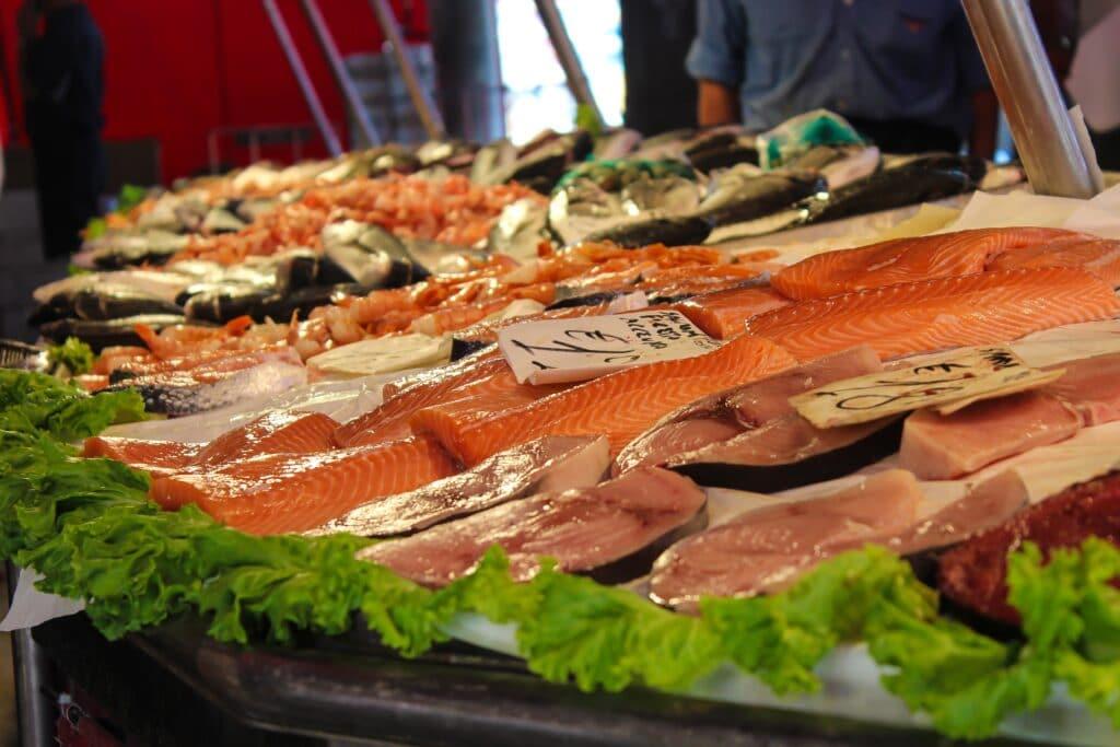 Lachs auf dem Markt